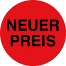 Aktionsetiketten - Neuer Preis