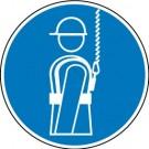 Gebotszeichen - Auffanggurt benutzen