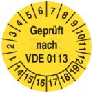 Prüfplaketten - Geprüft nach VDE 0113