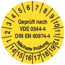 Prüfplaketten - Geprüft nach VDE 0544-4 DIN EN 60974-4 Nächste Prüfung