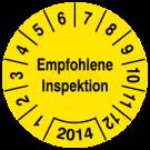 Prüfplaketten - Empfohlene Inspektion