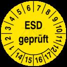 Prüfplaketten - ESD geprüft
