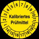 Prüfplaketten - Kalibriertes Prüfmittel