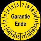 Prüfplaketten - Garantie Ende