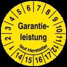 Prüfplaketten - Garantieleistung laut Hersteller