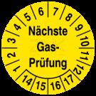 Prüfplaketten - Nächste Gasprüfung