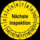 Prüfplaketten - Nächste Inspektion