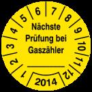 Prüfplaketten - Nächste Prüfung bei Gaszähler ...