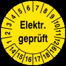 Prüfplaketten - Elektrisch geprüft