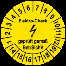 Prüfplaketten - Elektro Check geprüft gemäß BetrSichV