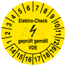 Prüfplaketten - Elektro Check Geprüft gemäß VDE (1)