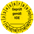 Prüfplaketten - Geprüft gemäß VDE ...