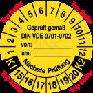 Prüfplaketten - Geprüft gemäß VDE 0701-0702 von … am … Nächste Prüfung k1-k2 – Top Seller