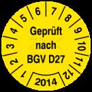 Prüfplaketten - Geprüft nach BGV D27 (1)