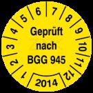 Prüfplaketten - Geprüft nach BGG 945