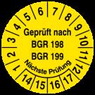 Prüfplaketten - Geprüft nach BGR 198 199 Nächste Prüfung
