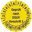 Prüfplaketten - Geprüft nach DGUV Vorschrift 3