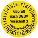 Prüfplaketten - Geprüft nach DGUV Vorschrift 3 Nächste Prüfung