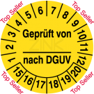 Prüfplaketten - Geprüft von … nach DGUV – Top Seller
