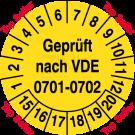 Prüfplaketten - Geprüft nach VDE 0701/0702 – Top Seller