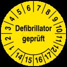 Prüfplaketten - Defibrillator geprüft