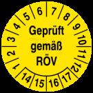 Prüfplaketten - Geprüft gemäß RÖV