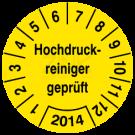Prüfplaketten - Hochdruckreiniger geprüft