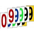 Einzelziffernsortiment von 0 bis 9