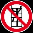 Verbotszeichen - Besteigen für Unbefugte verboten