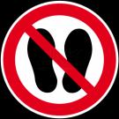 Verbotszeichen - Betreten dieser Fläche verboten