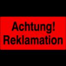 Versandetiketten - Achtung Reklamation