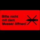Versandetiketten - Bitte nicht mit dem Messer öffnen