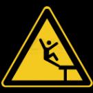 Warnzeichen - Warnung vor Absturzgefahr (2)