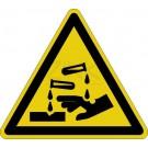 Warnzeichen - Warnung vor ätzenden Stoffen