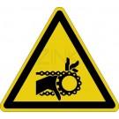 Warnzeichen - Warnung vor Einzugsgefahr (Kette)