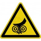 Warnzeichen - Warnung vor Einzugsgefahr (Walzen unten)