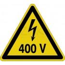 Warnzeichen - Warnung vor elektrischer Spannung 400 Volt
