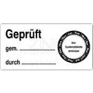 Grundplaketten - Geprüft gemäß ... durch ... (passend für Systemplaketten)