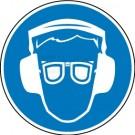 Gebotszeichen - Augen- und Gehörschutz tragen