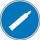 Gebotszeichen - Druckgasflasche