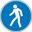 Gebotszeichen - Für Fußgänger