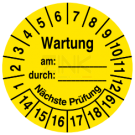 Prüfplaketten - Kalibriert am: … durch: … Nächste Prüfung
