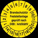 Prüfplaketten - Brandschutztür Feststellanlage geprüft nach DIBt / ArbStättV