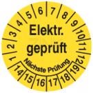 Prüfplaketten - Elektrisch geprüft Nächste Prüfung