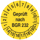 Prüfplaketten - Geprüft nach BGR 232 (2)
