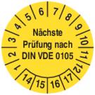 Prüfplaketten - Geprüft nach VDE 0105