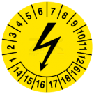 Prüfplaketten - Blitzzeichen (2)