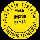 Prüfplaketten - Elektrisch geprüft gemäß