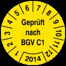 Prüfplaketten - Geprüft nach BGV C1