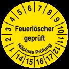 Prüfplaketten - Feuerlöscher geprüft Nächste Prüfung